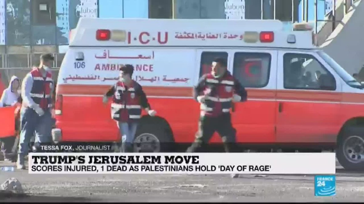 ?? Trump's Jerusalem move: Scores injured, 1 dead as Palestinians hold ''day of rage''