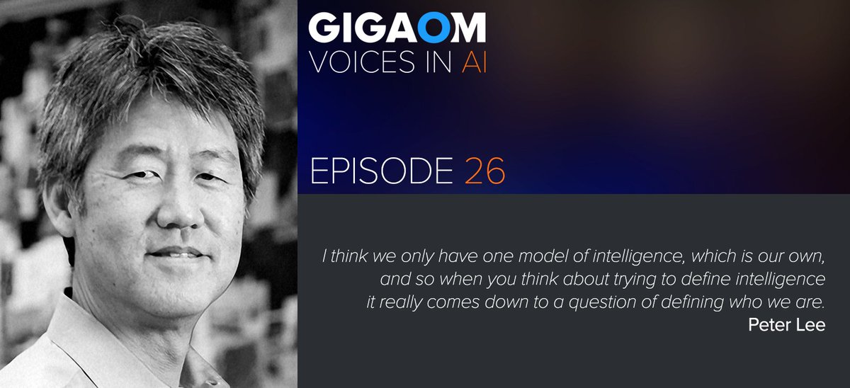 test Twitter Media - Corporate Vice President, AI & Research @Microsoft. Peter Lee talks w/@byronreese about defining intelligence, Venn diagrams, transfer learning, image recognition, and Xiaoice. An #AI podcast by @Gigaom https://t.co/NHQbFovlNA…n-with-peter-lee/ https://t.co/61N1gRHHOL
