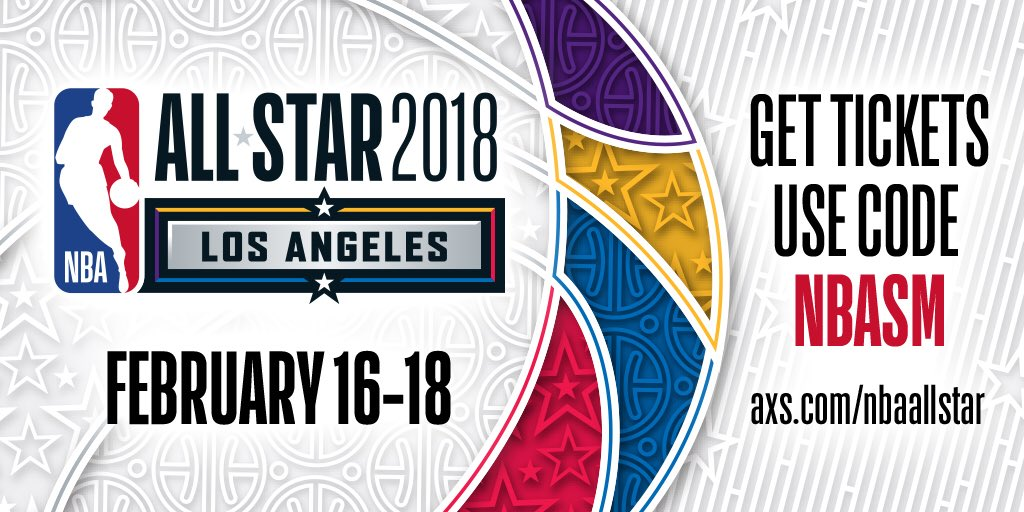 #NBAAllStar 2018 tickets exclusive pre-sale is open now!   Use code NBASM at checkout.    ��: https://t.co/7itHRJHuGa https://t.co/DCMFqqolIF