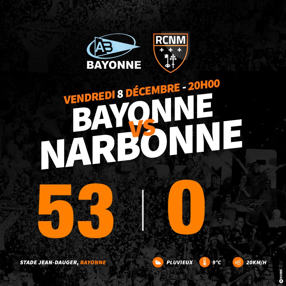 Défaite du racing à Bayonne ! https://t.co/gwdN0KDtk9