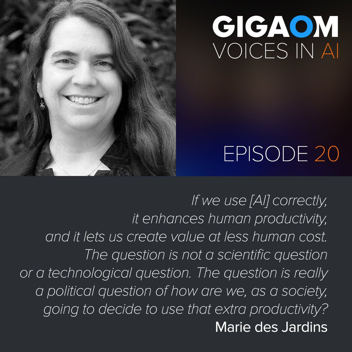 test Twitter Media - On Episode 20 of @VoicesinAI Professor and AI Researcher Marie des Jardins talks w/ @byronreese about the Turing test, #Watson and language processing. #AI @mariedj17 https://t.co/0cTi8Mv7Gv https://t.co/pIcGPXVrwE