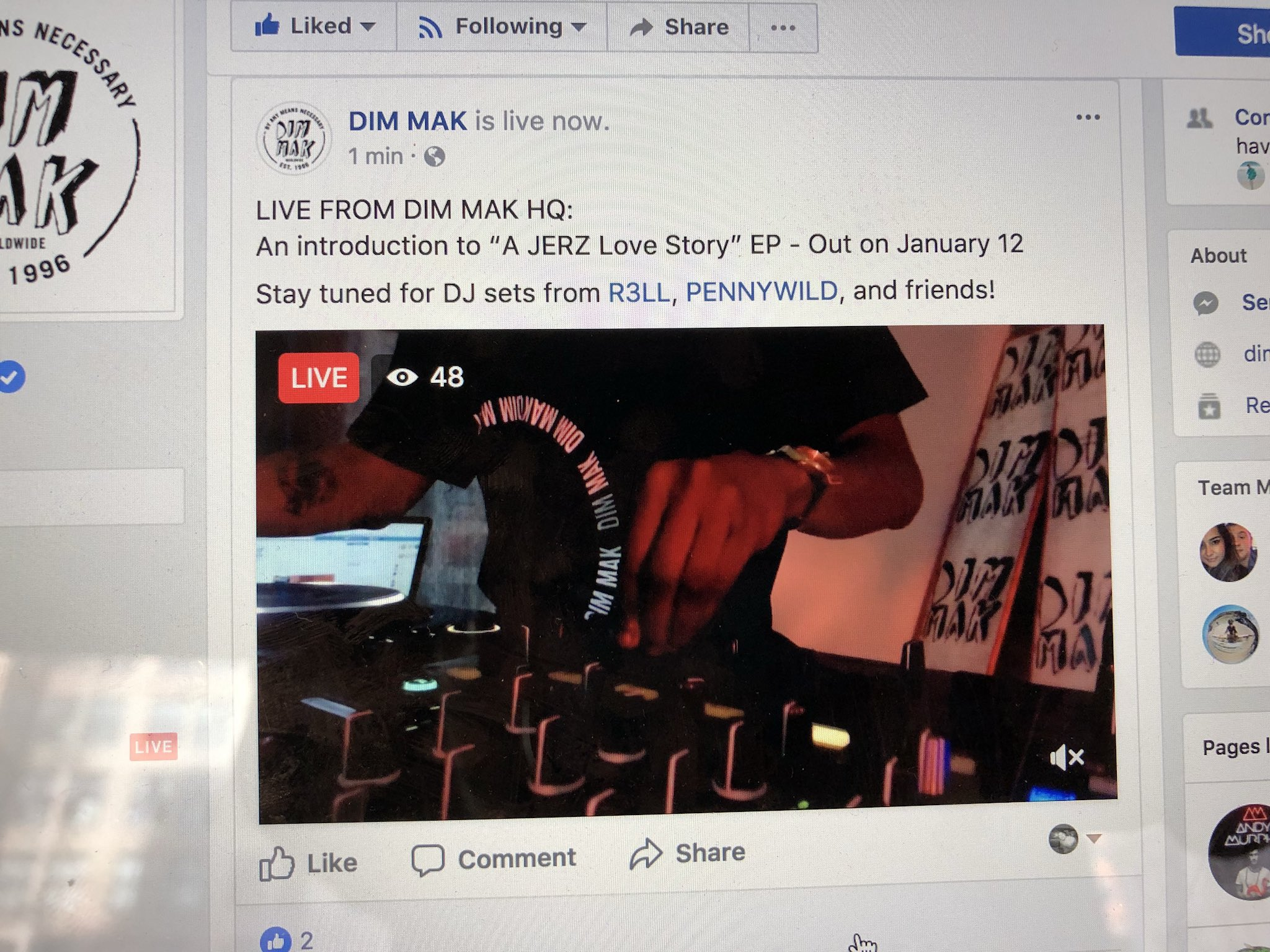We're live on Facebook with @itsR3LL from the Dim Mak office!! https://t.co/QD4RTkt2LD #JERZ https://t.co/R7ob5X7169