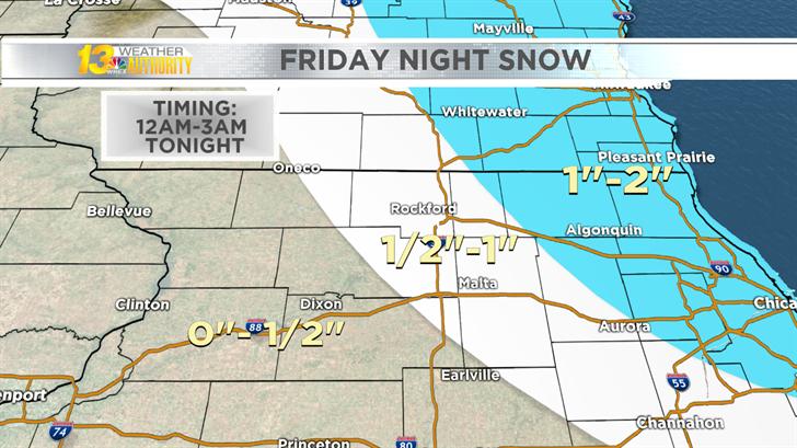 Light snow overnight may lead to slick roads
