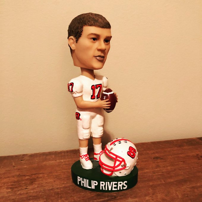 Day 342... Philip Rivers all white uni bobblehead. Happy birthday Philip!
