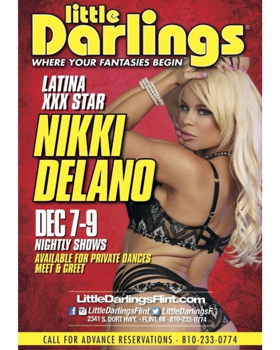 Off too @LittleDarlingsF now too do my 1st Show then the after party at @DejaVuFlint don't miss out night