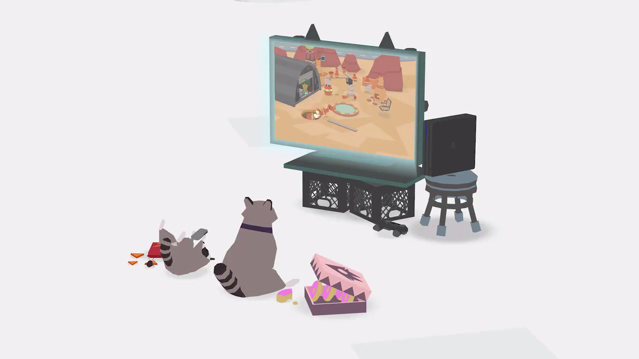 'So what is this, hole simulator?' Nope. This is Donut County, coming to PS4 in 2018: https://t.co/6WGSKHicJz https://t.co/HmDeaNNBhZ