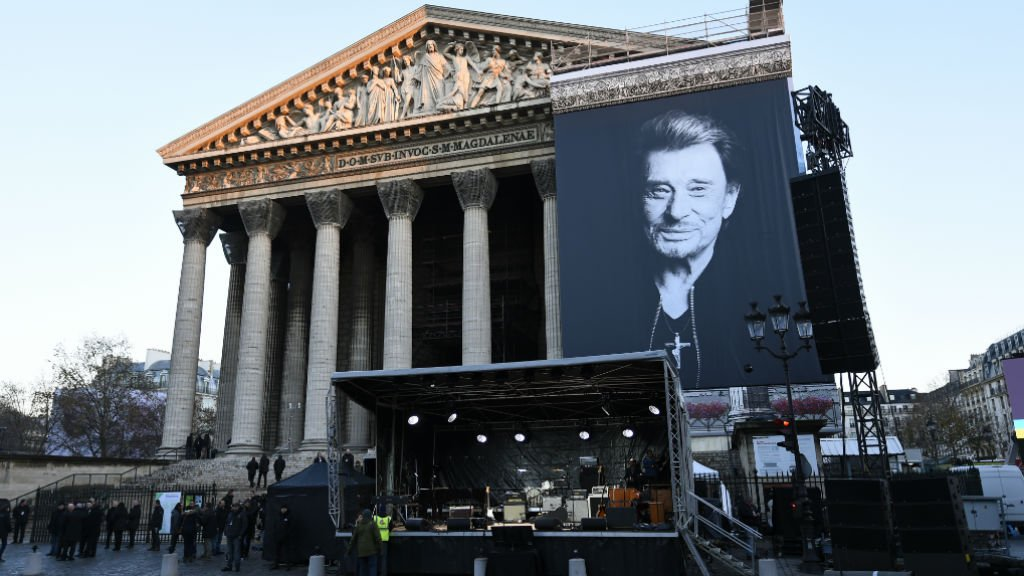 France pays homage to late rock icon Johnny Hallyday