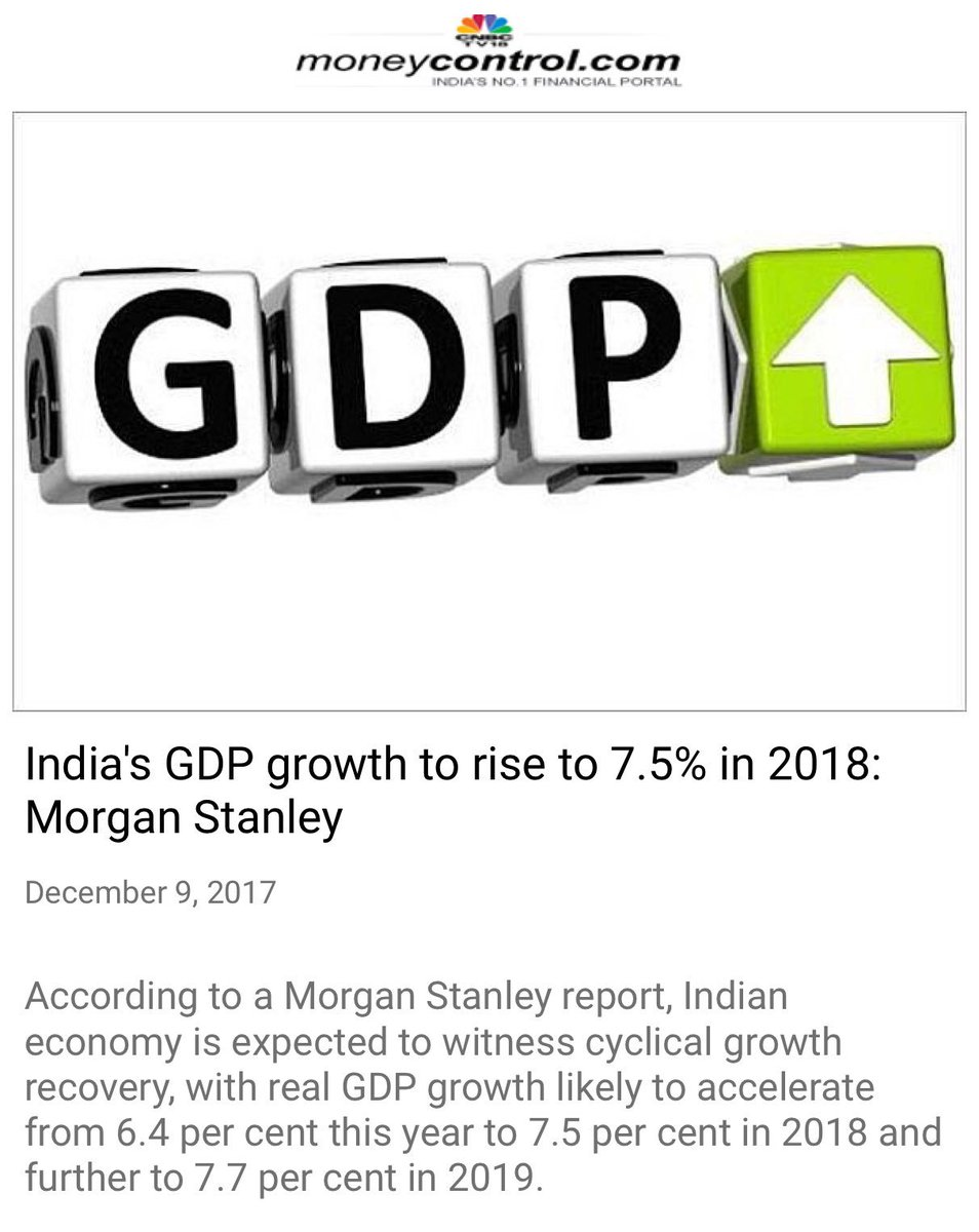 India's GDP growth to rise to  morgan stanley