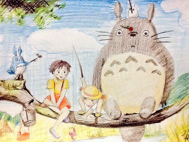 トトロ めいちゃん イラスト 簡単