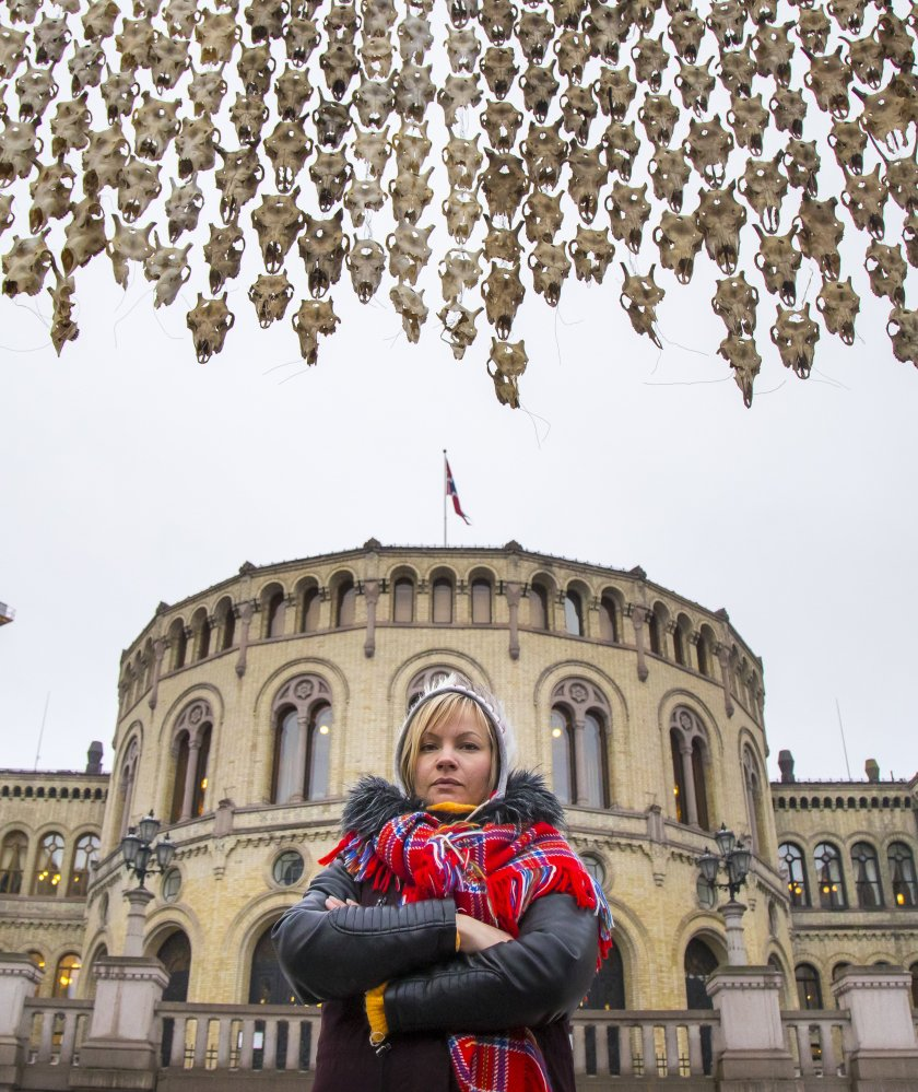 Indigenous artist challenges Norway's plan to limit reindeer