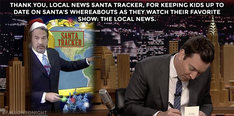 Thank you  local news Santa santa tracker