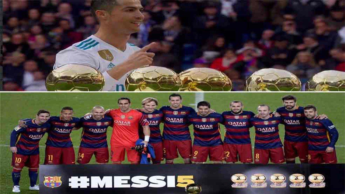 RT @sport: #LaLiga | Cristiano - Messi: dos formas de celebrar el Balón de Oro https://t.co/zzPu0C2f9x https://t.co/1w0F2QV8cj