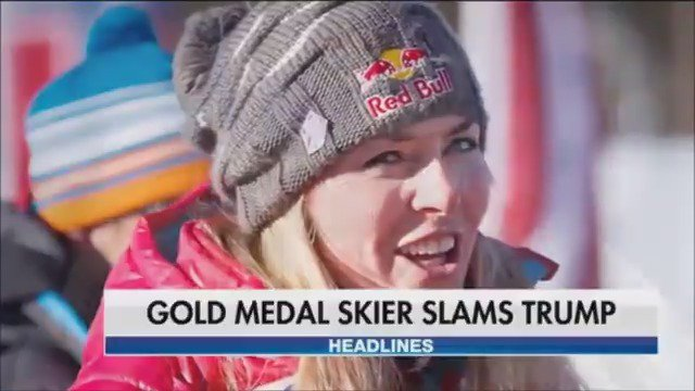 Olympic skier Lindsey Vonn says she'll represent our country but not President Trump at the 2018 Winter games https://t.co/sEN4rFL5R3