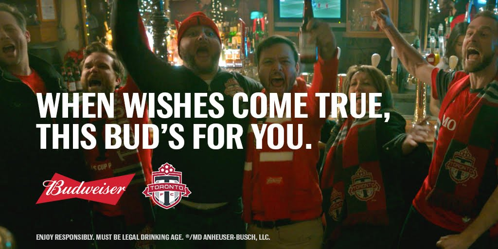 This is what redemption tastes like. Thanks @torontofc for making our wishes come true. #TFCRedChristmas #ThisBudsForYou https://t.co/XSxKbbpNHq