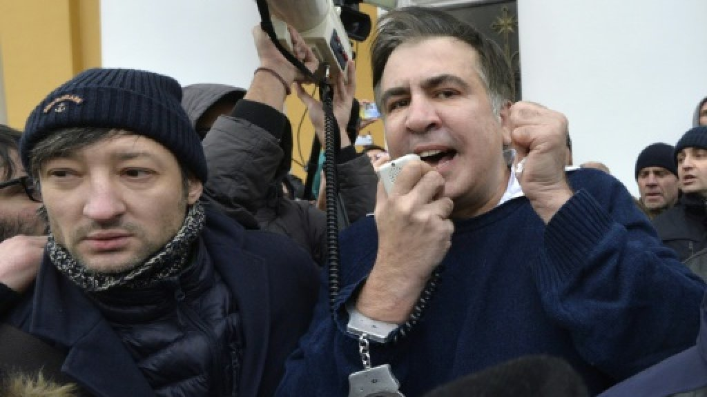 Ex-Georgian president Saakashvili on hunger strike after Ukraine arrest
