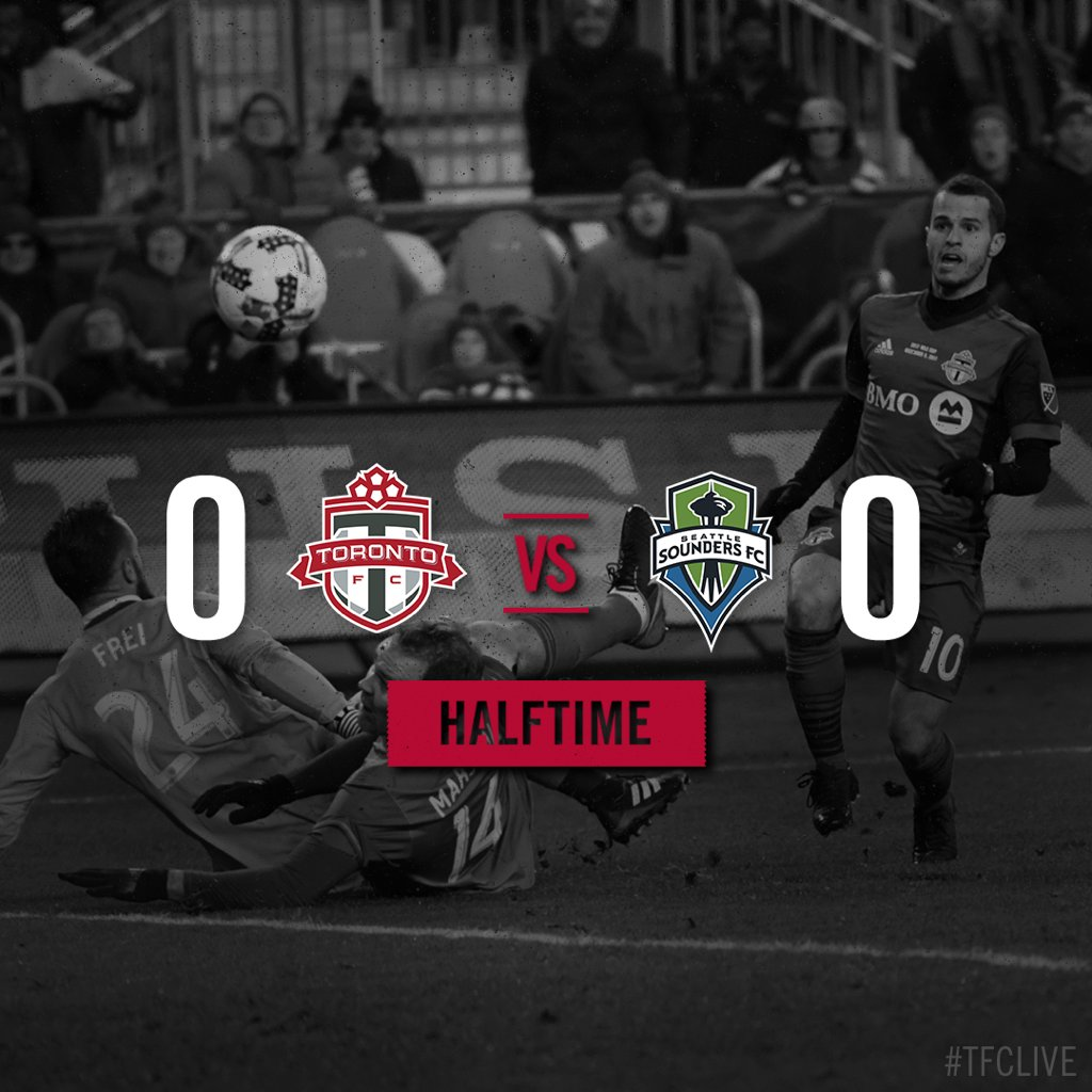 RT @torontofc: HT: One-way traffic through the first 45. Keep pushing!  #TFCLive | #MLSCup https://t.co/aSLu6tK7nI