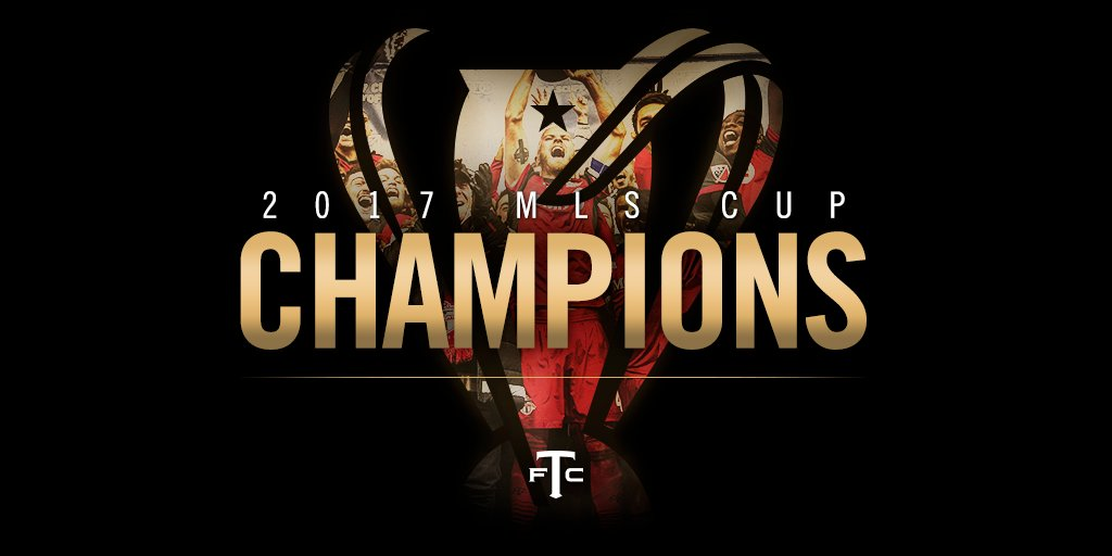 RT @torontofc: FT: Win the cup and make our dreams come true ✅  2017 #MLSCup Champions! https://t.co/5mA1UwpHMJ