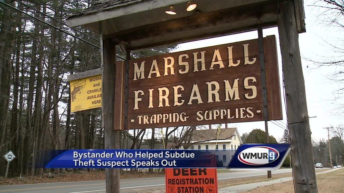 Shotgun thief stopped by gun store patron in Boscawen