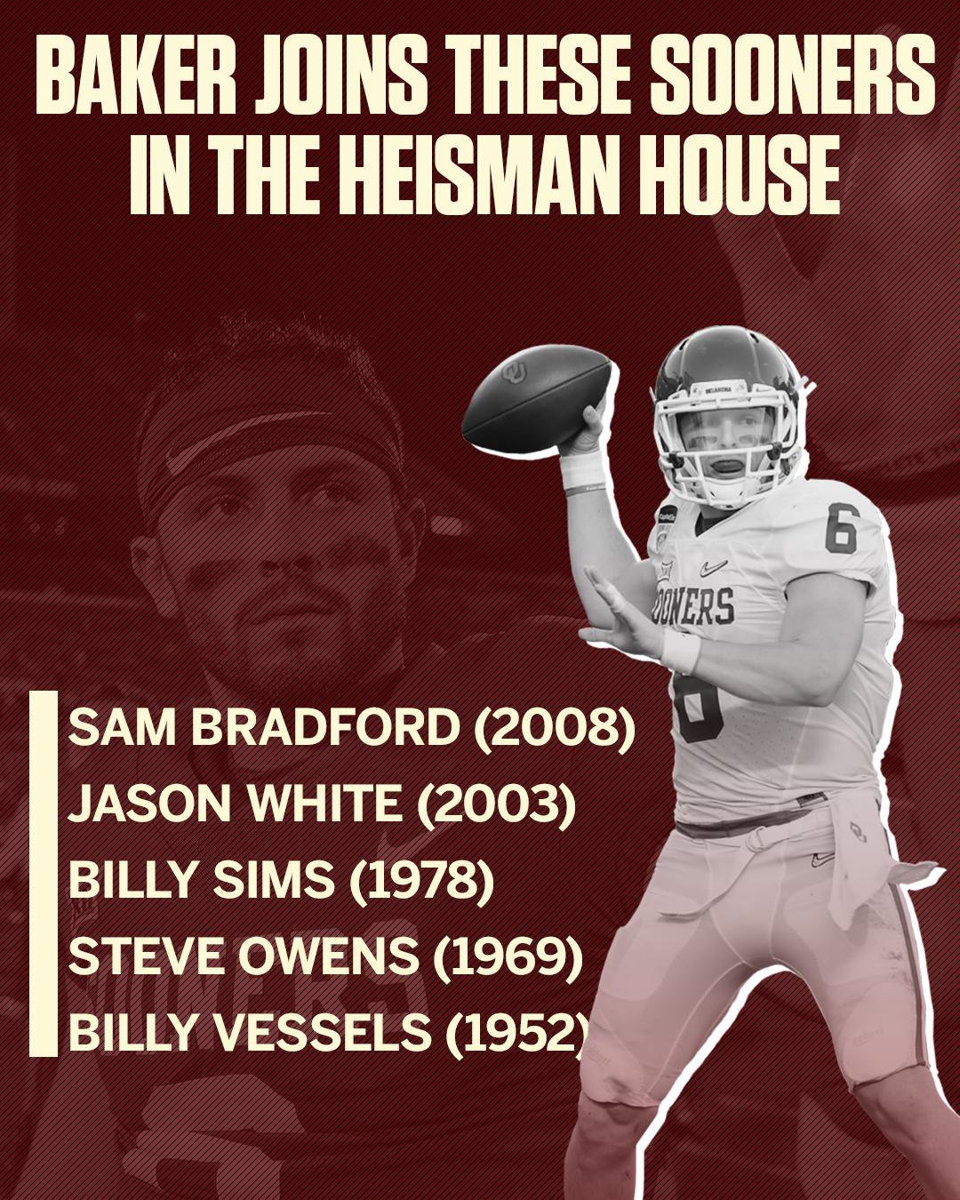 The Oklahoma wing of the @NissanUSA #HeismanHouse just got a little bit more crowded. https://t.co/rrzE5bbr0Q