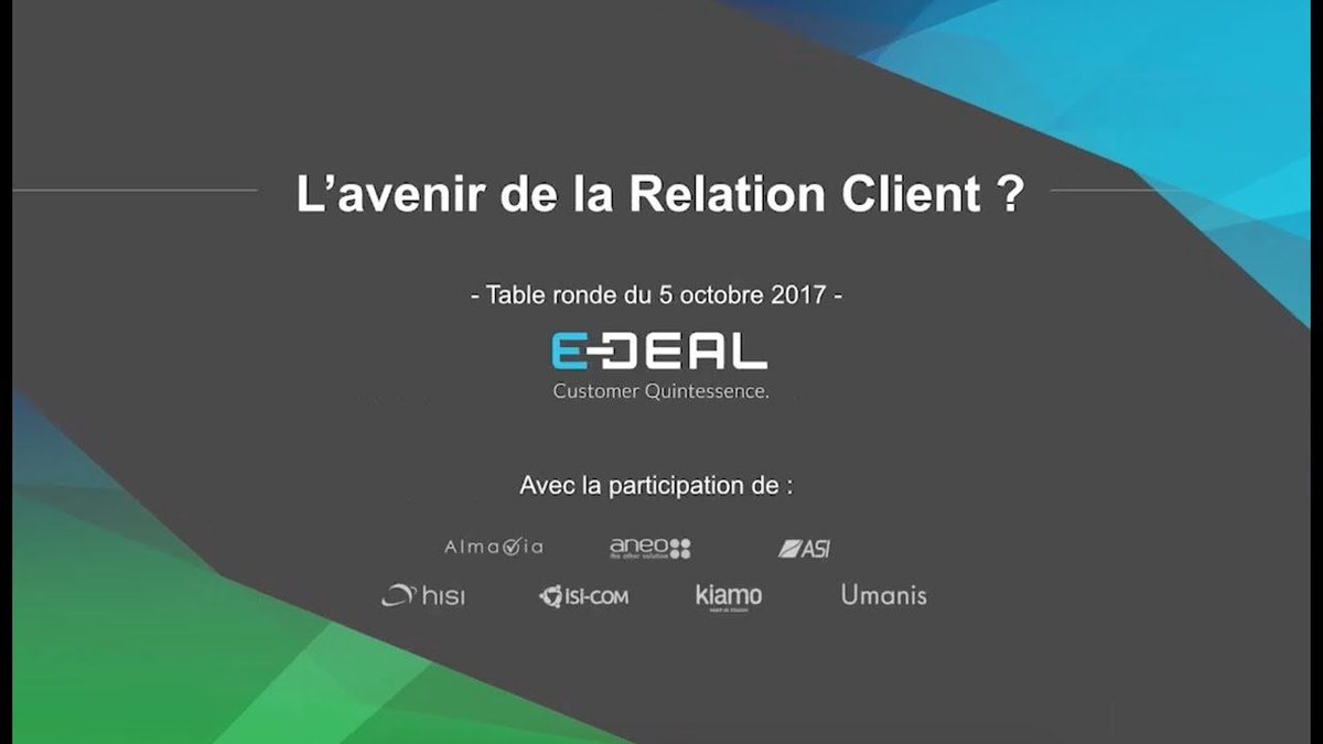 test Twitter Media - [ACTU] Vous souhaitez découvrir ou redécouvrir l'une des tables rondes du E-DEAL CRM Day ? On vous propose de visionner un sujet animé par 7 experts !   #relationclient #CRM #securite https://t.co/Gc6VtRDLJv https://t.co/dAwbzTwl8d