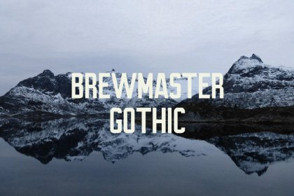 Brewmaster Gothic Free Demo Display Fonts Freebies FreeResources FreeDownload