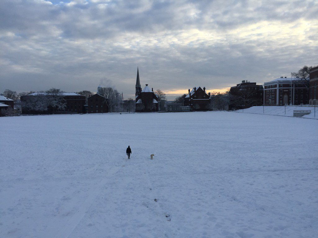 test Twitter Media - Kari & Mathilde making their way across a snowy @wesleyan_u campus @KariWeil https://t.co/CHWIFVlH5C