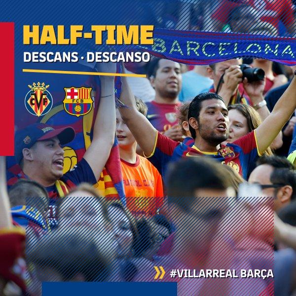 ⏰ At the break ⚽️ Villarreal 0-0 FC Barcelona �� #VillarrealBarça #FCBlive https://t.co/0PNajiGGKy