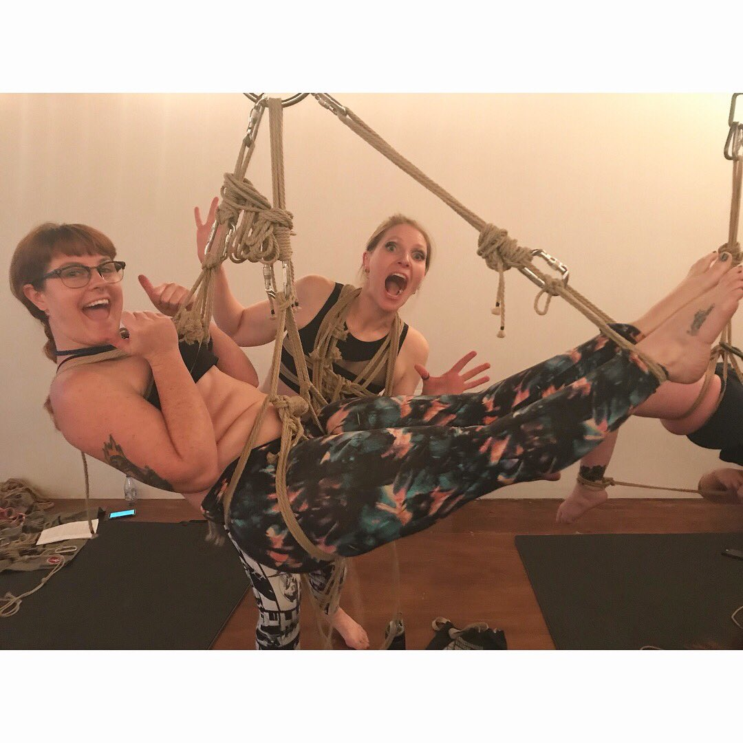 1 pic. If you've ever wanted to learn self suspension bondage I highly recommend the intro class