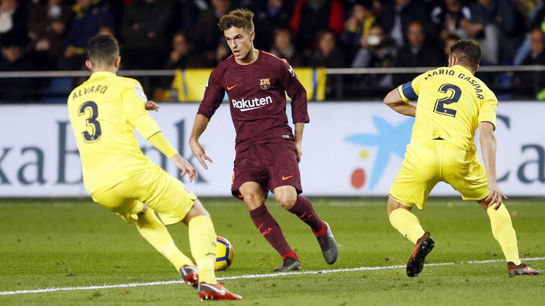 57:  First change for Barça �� @paco93alcacer  �� @DenisSuarez6  #VillarrealBarça #ForçaBarça https://t.co/Nx7418vT4w