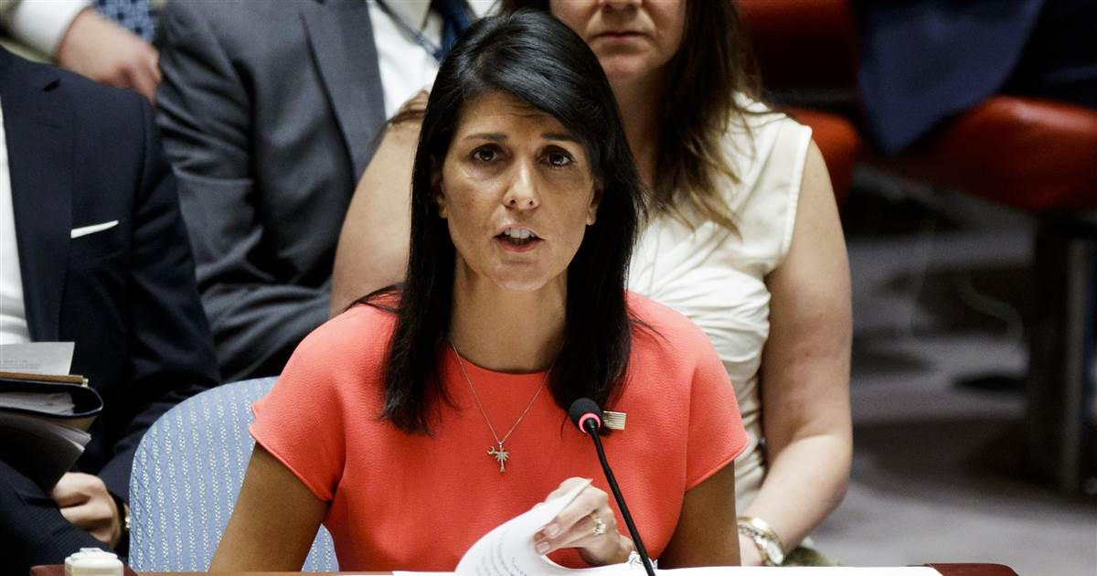 Ambassador Nikki Haley says Trump accusers have the right to be heard