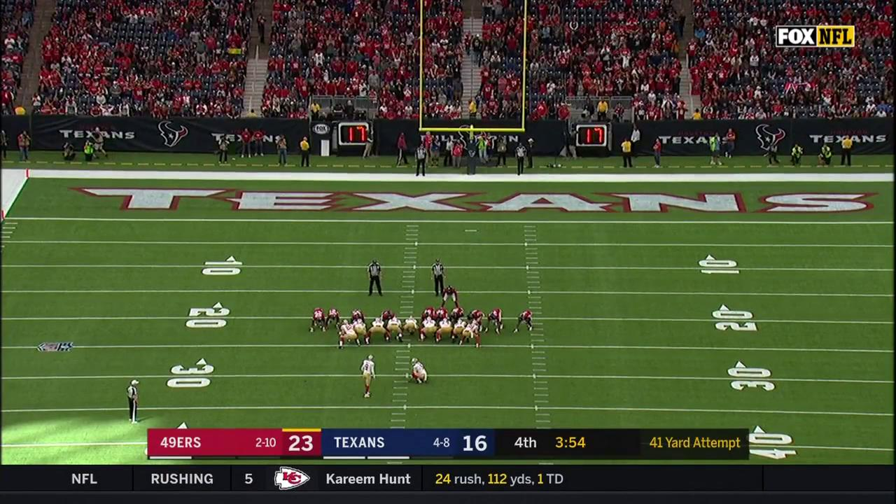 Another one! ��  @RobbieGould09's 41-yard field goal #GoNiners https://t.co/P42suqBvAi