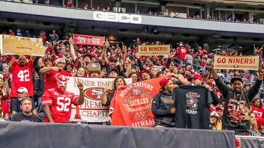 The Faithful were out in full force in HTown! #GoNiners https://t.co/AgMKILNO7F