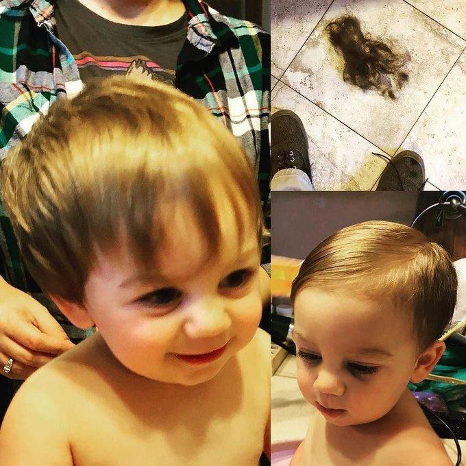 Cam got a home haircut from Dad! https://t.co/4VjybvSBUf https://t.co/kzrwX5kaN6