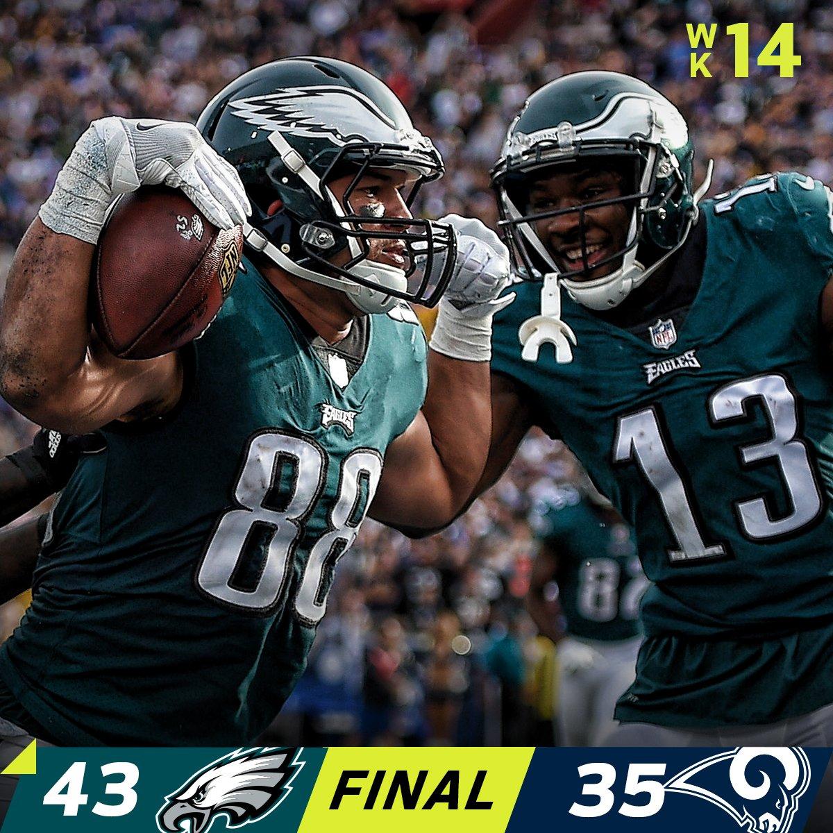 FINAL: The @Eagles WIN in LA! #FlyEaglesFly  #PHIvsLAR https://t.co/O6Jzfgw73X