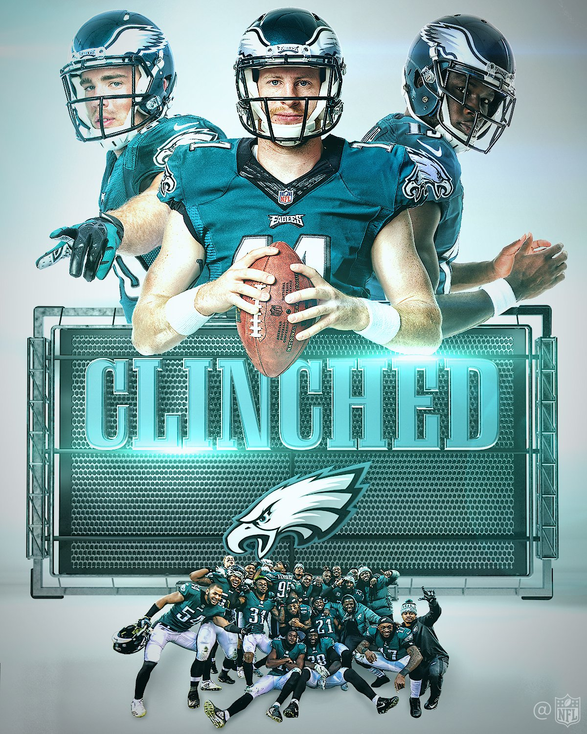 The @Eagles have clinched the NFC East and are heading to the playoffs!  #FlyEaglesFly https://t.co/5AxncEMrgH
