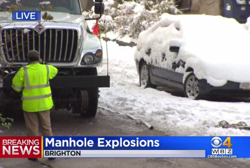 Boston fire crews respond to several manhole explosions