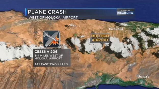 2 killed in Cessna plane crash on Molokai, officials say
