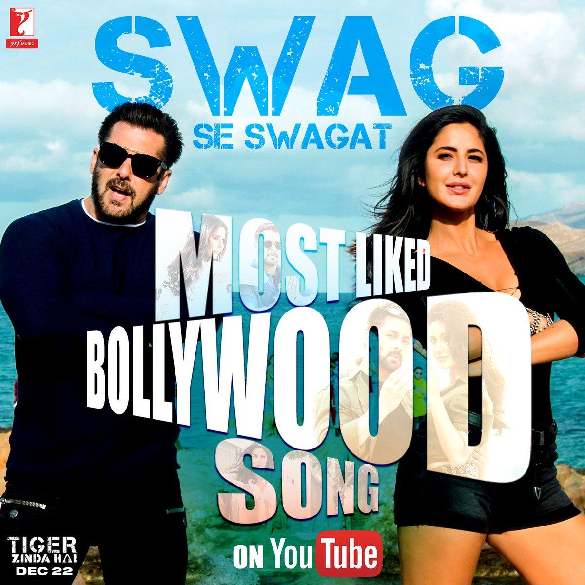 test Twitter Media - With 1 MILLION+ likes, #SwagSeSwagat becomes the MOST LIKED BOLLYWOOD SONG on @YouTube. Rewatch & dance along: https://t.co/JxHRodt8Fd 😍🔥 @BeingSalmanKhan #KatrinaKaif @VishalDadlani @ShekharRavjiani @nehabhasin4u @VMVMVMVMVM @Irshad_Kamil @TigerZindaHai https://t.co/soOiH4bJmB