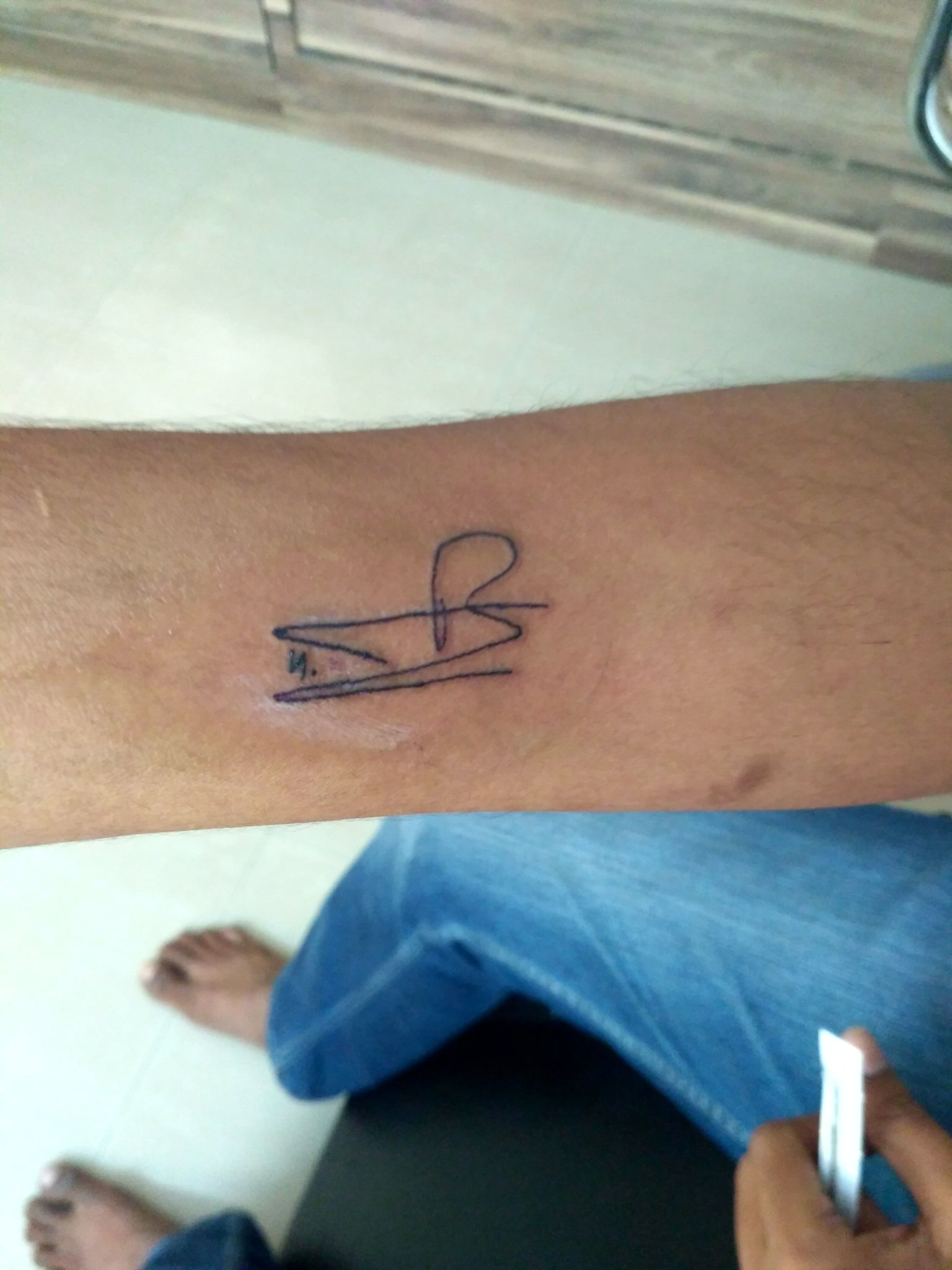 Tatooed @tarak9999 signature Permanent tatoo ✊✊ @ntrfanforever https://t.co/pxkvzvy6eb