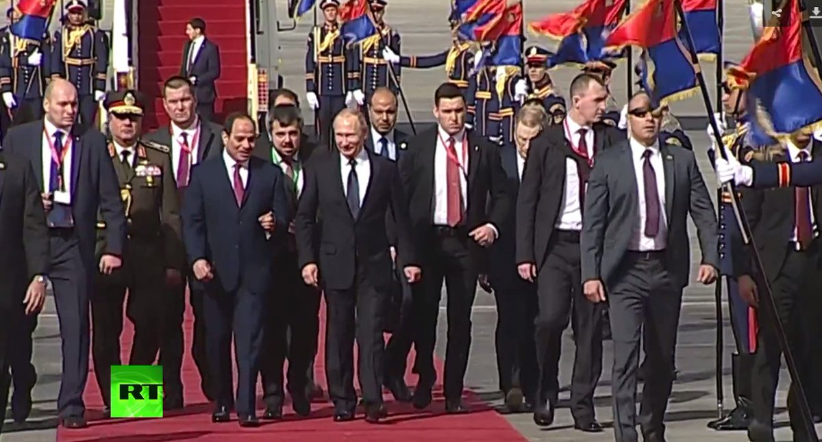 LIVE: Putin arrives in Cairo for meeting with Egypt's Sisi