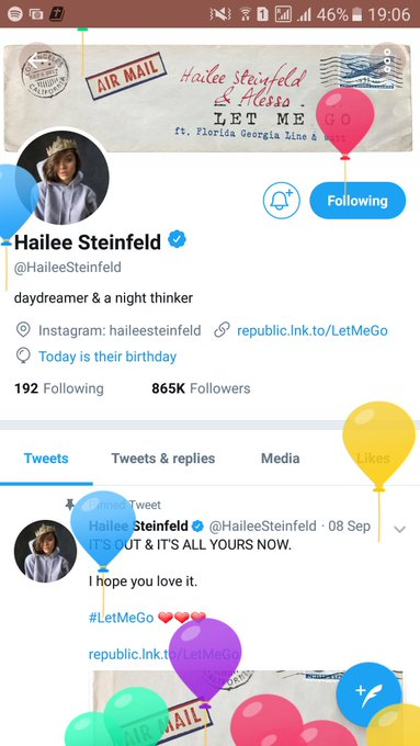 HAPPY BIRTHDAY HAILEE STEINFELD I WISH YOU ALL THE BEST. ENJOY YOUR DAAAAY.