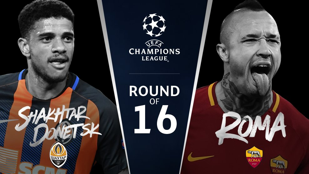 Shakhtar v Roma  #UCLdraw https://t.co/hB1X6ORz5F