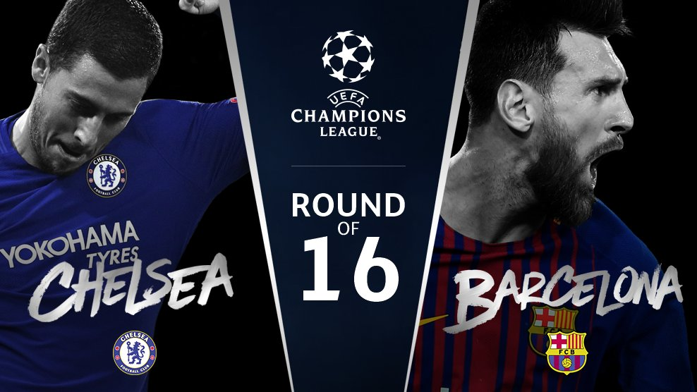 Chelsea v Barcelona  #UCLdraw https://t.co/0BNcTMdcd0