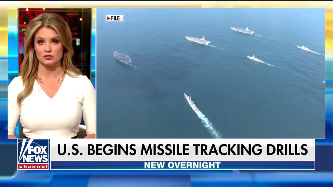 US begins missile tracking drills https://t.co/uQnGEevH4Z