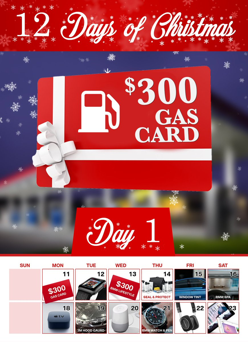 test Twitter Media - 🎁 Today is Day 1 of our 12 Days of Christmas Giveaways at #EndrasBMW! Each vehicle purchase today will receive a FREE $300 Gas Card! 🎄 Come on in! https://t.co/OOcxxpUFkM