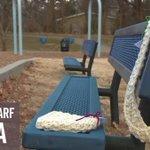 """Secret Scarf Santa"" donates handmade accessories to keep people warm"