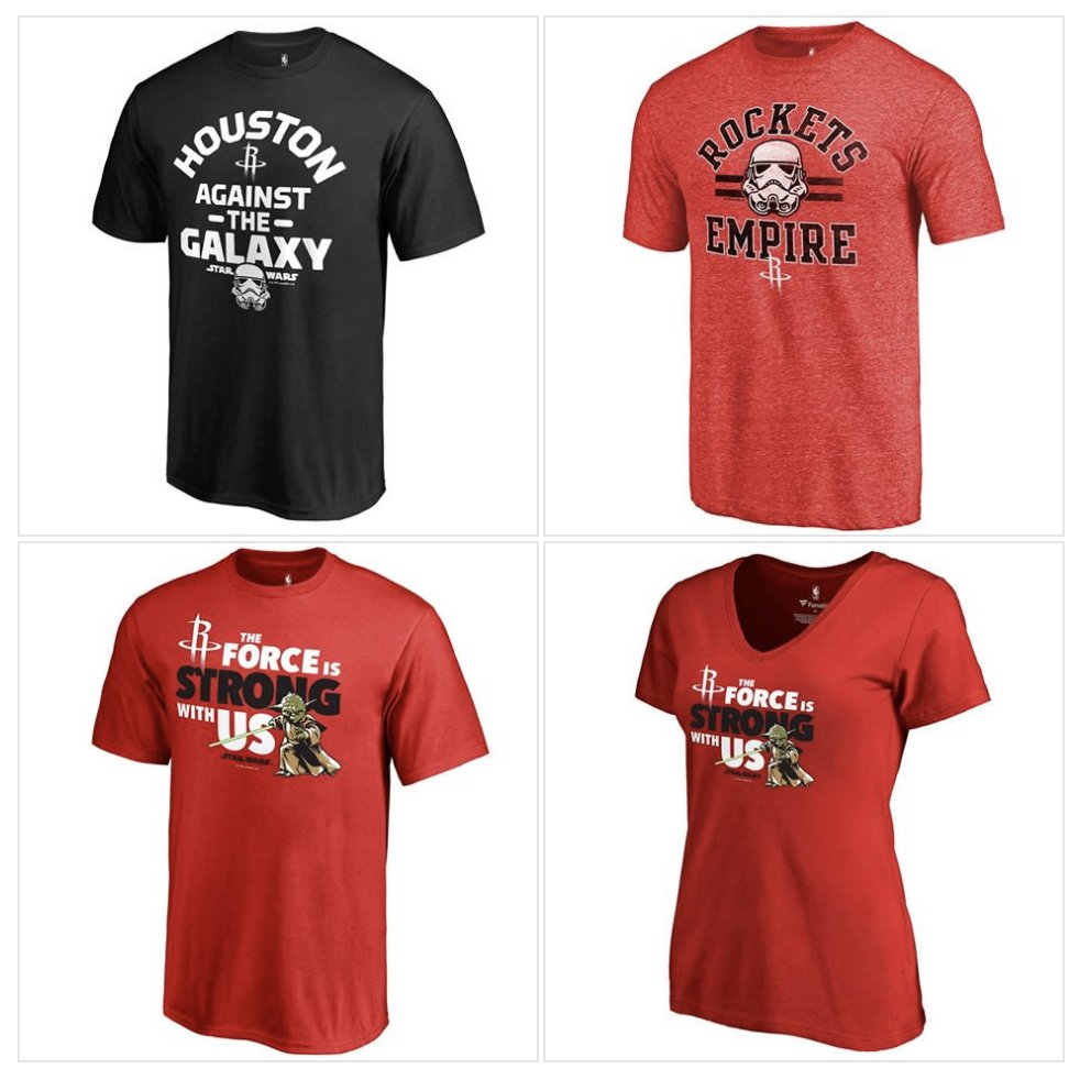Available in-arena at  @ToyotaCenter TONIGHT, the #Rockets @starwars collection! https://t.co/goGIYfU9mG