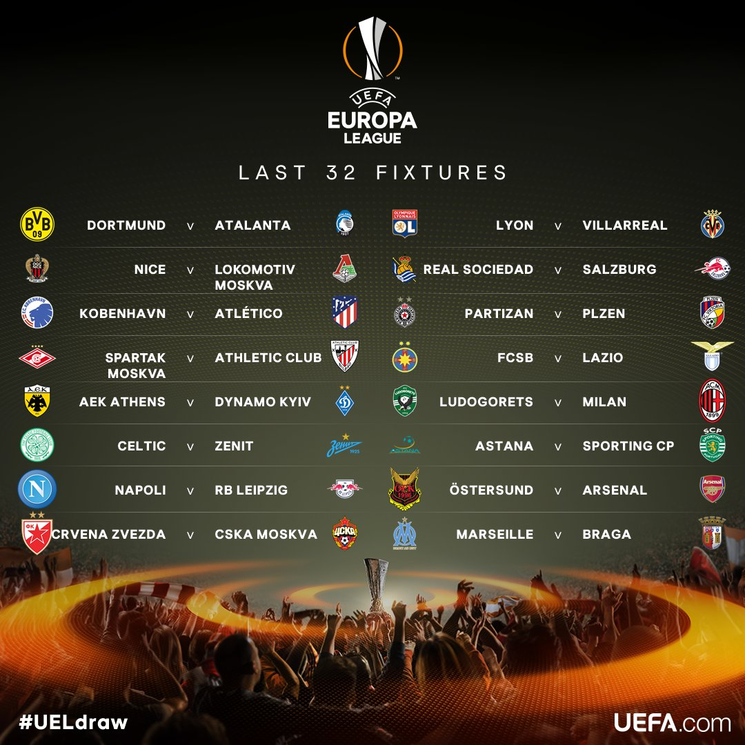 RT @RadioElshinta: Hasil Undian 32 Besar @EuropaLeague 2017/2018. Komentar Anda? #ElshintaSport https://t.co/vLCF1ojzUT