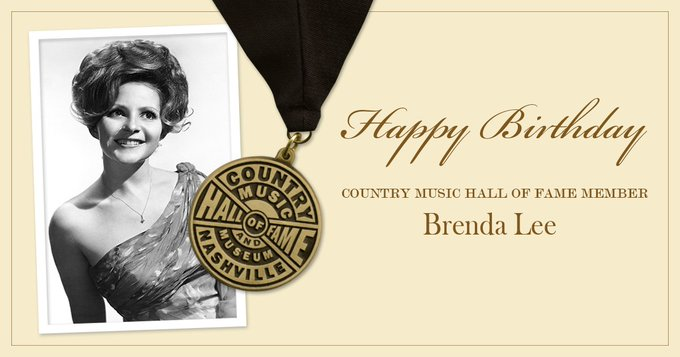 Join us in wishing Country Music Hall of Fame member Brenda Lee a very happy birthday!