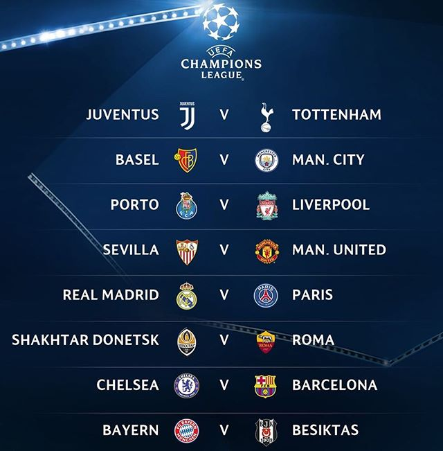Got to love champions league!!! Who you got to win the whole thing? #UCLdraw 📷: @championsleague https://t.co/RnMpVaOpAM